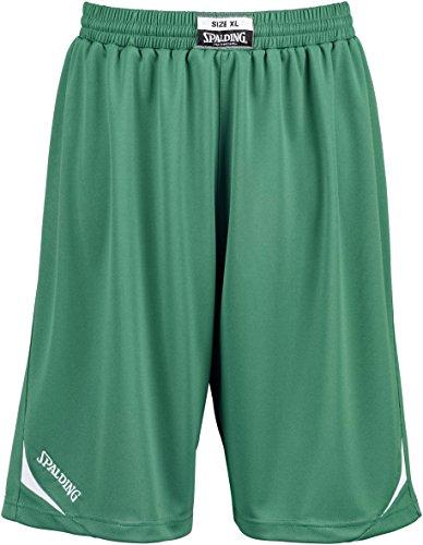 Spalding Attack Herren Shorts XXXS grün/weiß