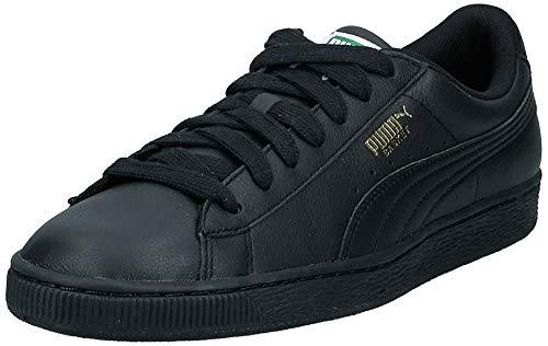 PUMA Basket Classic LFS, Sneaker Uomo, Nero(Black/Team Gold), 9,5 EU
