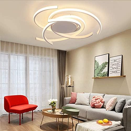 Luz Techo Dormitorios Plafon LED Diseño Lamparas de Techo Modernas Para Comedor Regulable 3000 K-6500 K con Control Remoto...