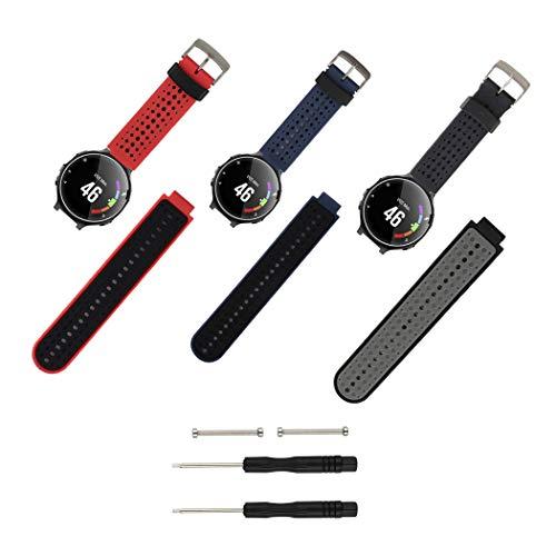 Molitececool Compatible con Forerunner 235 Correa de Reloj, Banda de Reemplazo Silicona Suave Sports Pulsera para Forerunner 235/220/230/620/630/735XT Smart Watch