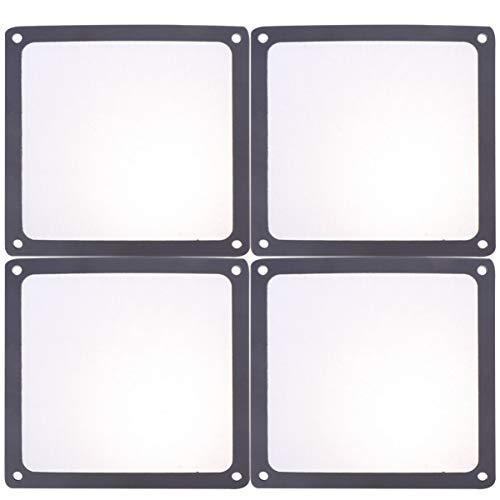 Solustre 4 Stück Computer Lüfter Filter PC Lüfter Staubfilter Staubdicht PC Kühler Filter Computer Lüfter Luftfilter (Schwarz 14X14cm)