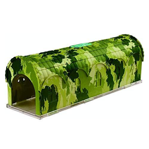RatzFatz Mausefalle Lebend Premium Lebendfalle Wiederverwendbar. Camouflage, Außen und Innen, Innovativer Mechanismus, Modell Rambo MBC-01