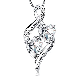 ♥ DESIGN CONCEPT ♥ The lettering of the infinity necklace represents the preciousness of this relationship and the mother's deep love for her daughter. No matter what happens, you will always be my favorite daughter and friend. ♥ MATERIALS & SIZE ♥ T...