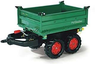 Rolly Toys ZC-107 rollyMega Trailer für Kinder von 3-10 Jahre, Zweiachsanhänger, Dreiseitenkipper, mit Heckkupplung 122202