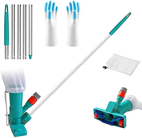 Shengruili Aspiradora de piscina, juego de limpieza de piscina, aspirador de piscina, aspirador portátil, cabezal de vacío, limpieza de piscina (J)