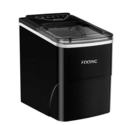 Machine à glaçons FOOING Machine à glaçons Machine à glaçons Comptoir prêt en 6 minutes Machine à glaçons 2L avec cuillère à glace et panier Affichage LED Machine à glaçons pour le bureau de cuisine
