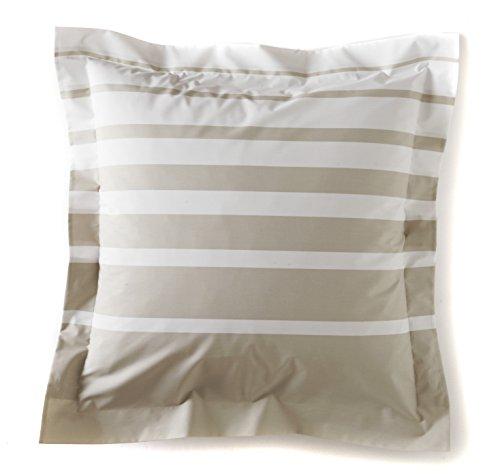Blanc des Vosges Grand Large Taie carrée Coton Craie 65 x 65 cm