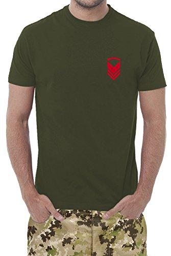 Set di n° 3 T-Shirts Verde Militare - Maglietta Unisex - 100% Cotone - 150 Grammi - JHK MOD. TSRA 150 (50-52 XXL EU Uomo, Verde Militare Personalizzato)