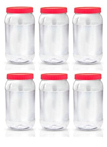 Sunpet Aufbewahrungsbehälter für Lebensmittel, Kunststoff, Rot, 2000ml, Pack von 6