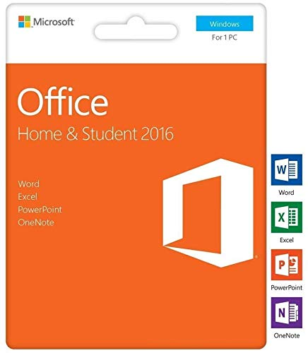 Office 2016 Home and Student Box - 1 PC - Box - Word Excel PowerPoint OneNote - MS Office 2016 für Windows 10 / 8 / 8.1 / 7