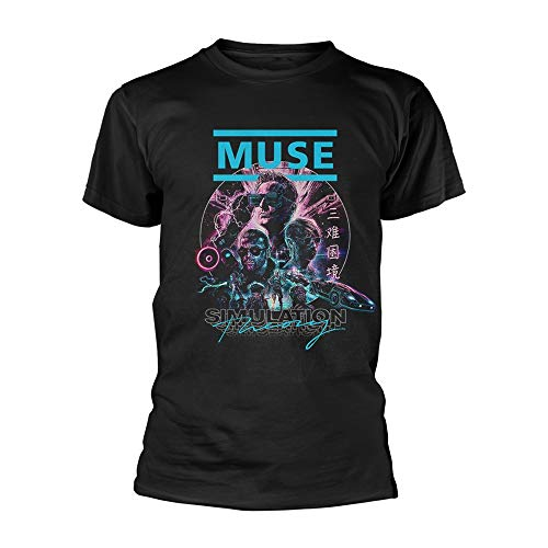 Muse Simulation Theory Officiel T-Shirt Hommes Unisexe (Medium)