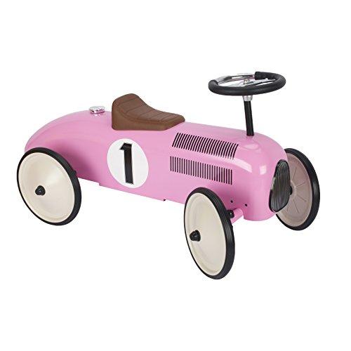 Goki 14168 Rutscherfahrzeug, rosa/grau