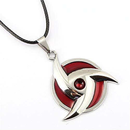 OIVA Naruto Itachi Uchiha Mangekyou Sharingan Symbol Pendant Necklace
