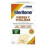 Meritene FUERZA Y VITALIDAD - Suplementa tu nutrición y mantén tu sistema inmune con vitaminas, minerales y proteínas- Batido de Vainilla - Estuche (15 sobres de 30g)