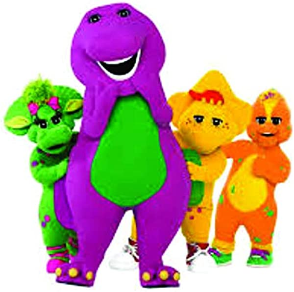 Fun Barney The Dinosaur Show Mascot Kids TV Show Wall Decals Decor Baby Songs I Love You Purple Dinosaurs Sticker Room Decoration For Bedrooms Vinyl Stickers Sticker Boy Girls Size 18x20 Inch
