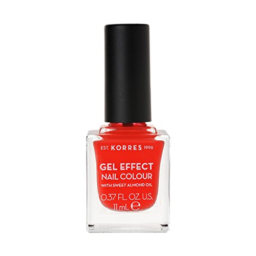Korres Gel Effect Sweet Almond oil Nagellack, 45 coral,1er Pack (1 x 11 ml)