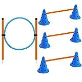 X XBEN - Set di agilità per cani, ostacoli di attività del cane, altezza regolabile con ...