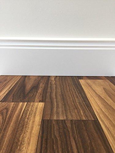 TAPETENSPEZI PVC Bodenbelag Landhausdiele Eiche | Vinylboden in 4m Breite & 9m Länge | Fußbodenheizung geeignet | Vinyl Planken strapazierfähig & pflegeleicht | Fußbodenbelag für Gewerbe