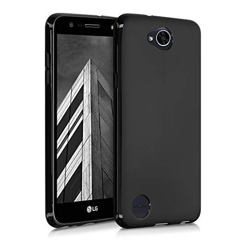 kwmobile Cover Compatibile con LG X Power 2 - Cover Custodia in Silicone TPU - Backcover Protezione Posteriore - Nero Matt