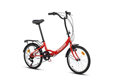 Moma bikes First Class II Red, Bicicletta Pieghevole Unisex Adulto, Rosso, Unic Size