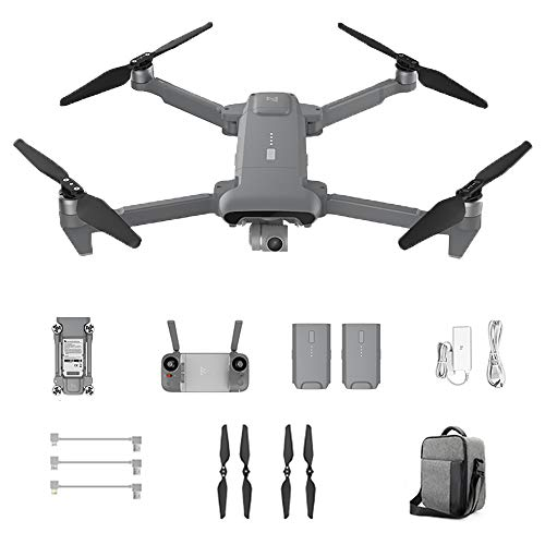 FIMI X8SE 2020 Version Camera Drone Folding Design Portable Drone 3-Axis Gimbal 4K Camera HDR Video GPS 35mins Flight Time Professional Helicopter RC Drone Complete Drone Suit (Gray)