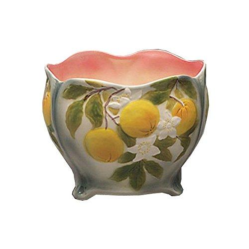 Faïencerie de Niderviller ~ Cache-Pot Barbotine Oranges faïence