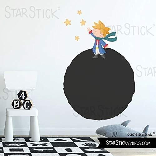 Vinilo pizarra - Planeta y pequeño príncipe - T3 - Grande