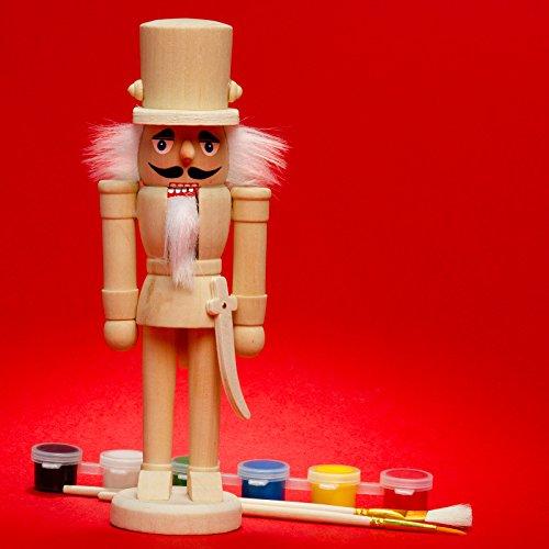 SIKORA NK-B 'Do-it-Yourself' Deko Nußknacker Figur für Kinder zum selbst Bemalen