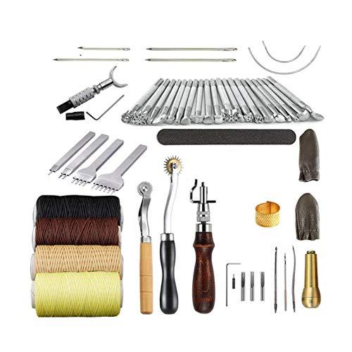 CHSEEO Artesanía del Cuero, 45 Piezas Juegos y Kits de Costura Kits de Repujado de Cuero Herramientas de Coser Perforadora de Cuero para Manualidades DIY Cuero Artesanía #4