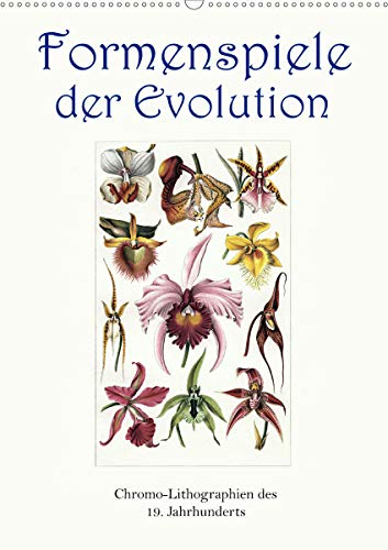 Formenspiele der Evolution. Chromolithographien des 19. Jahrhunderts (Wandkalender 2021 DIN A2 hoch)