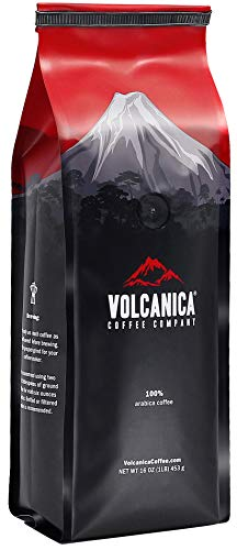 Volcanica Coffee, French Vanilla Flavored Decaf Coffee, Whole Bean