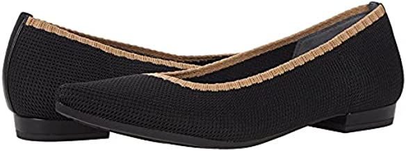 Vionic Women's Lotus Dahlia Knitted Ballet Flat- Supportive Ladies Slip On Shoes That Include Three-Zone Comfort with Orthotic Insole Arch Support, Medium Fit Black 11 Medium US