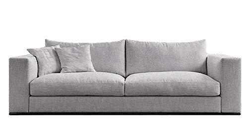 Nowak MebLiebe Sofa Couch 232x90x80 cm Laura Relax Salon Lounge Wohnzimmer Wohnraum Hygge (Grau)