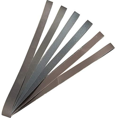 Sackorange 2 x 72 Inch High Performance Silicon Carbide Sanding Belts - Premium Knife Sharpening Sanding Belts Assortment 120 240 400 600 800 and 1000 Grits - 6 Pack