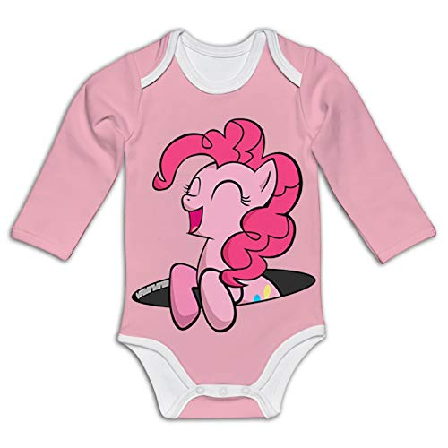 P-ink_ie P-ie laughing Baby Bodysuits Long-Sleeve Jumpsuits Cute Stretchy Rompers for Unisex Infants 6M