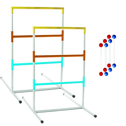 Franklin Sports Professional Ladder Ball Set – Steel Construction – Ladder Golf – Outdoor Lawn Games – Beach Games