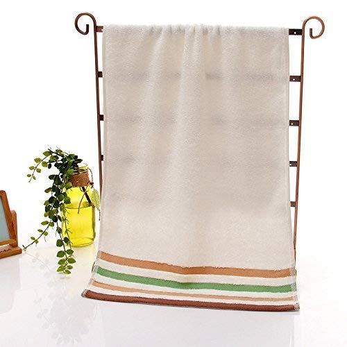 Accessoires salle de bain ZHFC ZHFC le bambou fiber serviettes don de serviettes soft en serviette welfare don beige vin rouge vert 34 * 74 1,Beige,34 × 74