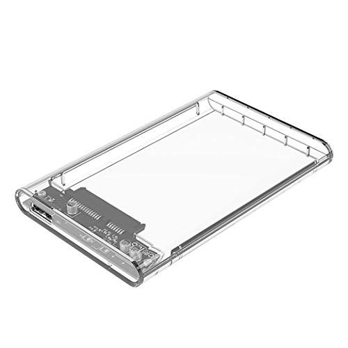PULABO USB 3.0 Caja de disco duro externo para 2.5 pulgadas SATA...