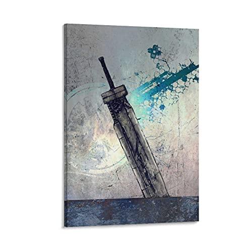 Fusion Sword - Póster de la espada de la nube usada en la última lona y arte de la pared, impresión moderna para dormitorio familiar de 40 x 60 cm