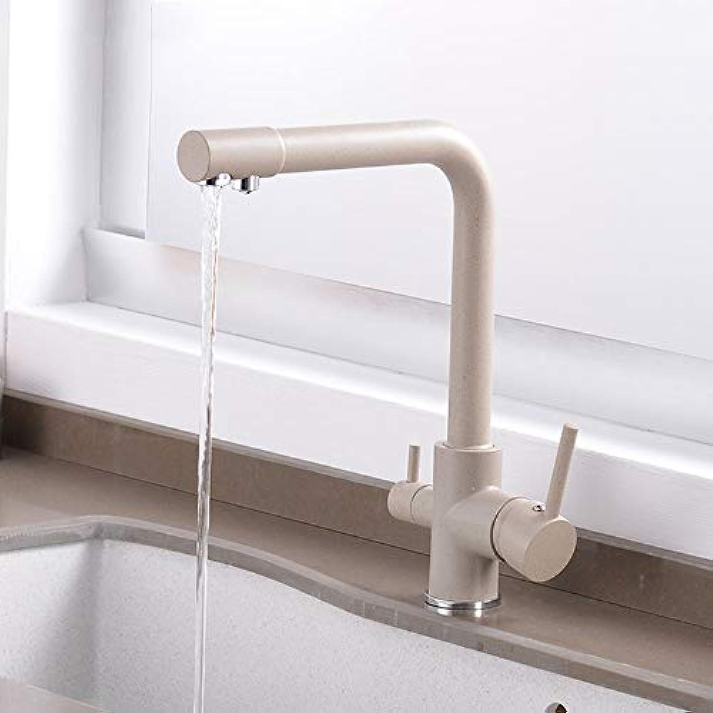 Küchen-Wasserhahn Purifier Kitchen Faucet Mit Gefiltertem Wasser Dual Handle Drinking Water Tap, Kalt Und Hot Mixer Sink Faucet