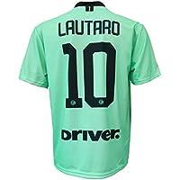 L.C. Sport segunda camiseta Inter Lautaro Martinez 10 réplica autorizada para niño (tallas 2 4 6 8 10 12) Adulto (S M L XL) Leer Notas, Verde, X-Large