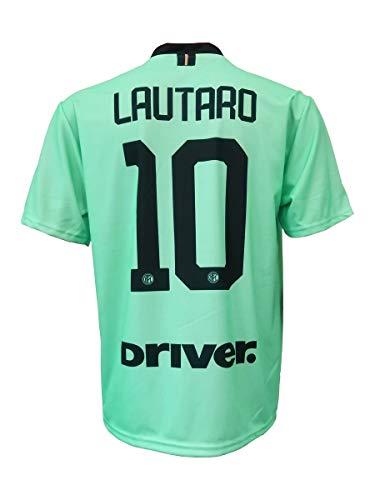 L.C. Sport - Camiseta interior Lautaro Martinez 10 réplica autorizada para niño (tallas - años 2, 4, 6, 8, 10, 12) para adulto (S, M, L, XL), Verde, 2-3 anni