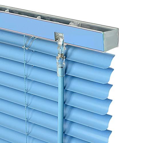 Tende alla veneziana Veneziane PVC Blu Oscuranti, tonalità Impermeabili per Il Bagno della Cucina della Camera da Letto, Installazione Facile, 100cm / 120cm / 130cm di Larghezza