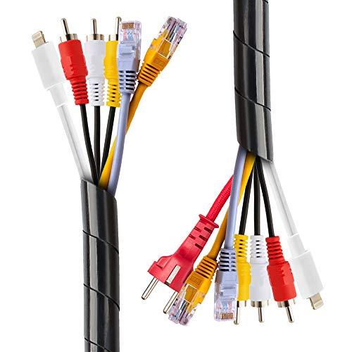 Organizador Cables 2 x 12m Tubo de Cable en Espiral 8 mm...