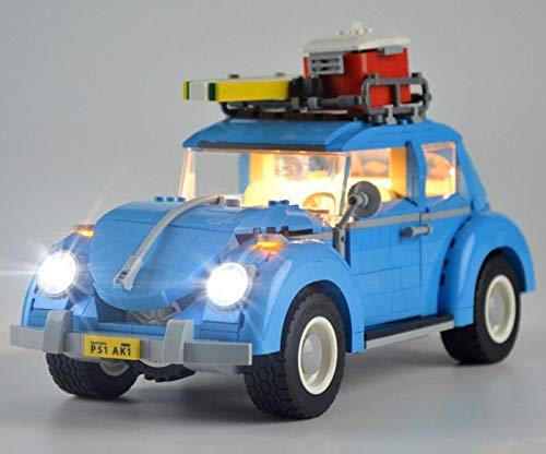 NURICH Licht Set für Lego 10252 Volkswagen Beetle, USB Stecker, passen zum Lego 10252