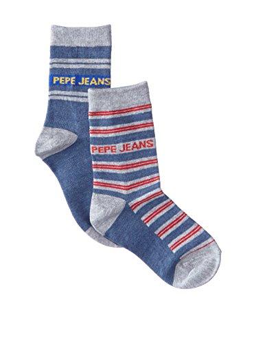 Pepe Jeans Underwear Jungen ZIGGY Socken, Mehrfarbig (Denim/Red Stripe 933), 29-32 (Herstellergröße: 28/31)