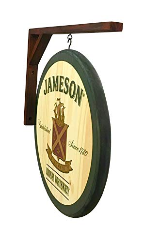 Jameson Whiskey - 2 Sided Pub Sign - Includes Wall Hanging Bracket - Indoor USE ONLY
