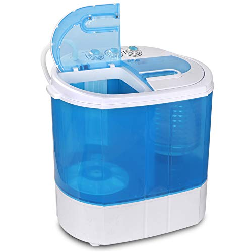 ZENY Portable Clothes Washing Machine Mini Twin Tub Washer Spin Spinner 9.9lbs Capacity Lightweight Small Laundry Washer for Apartment