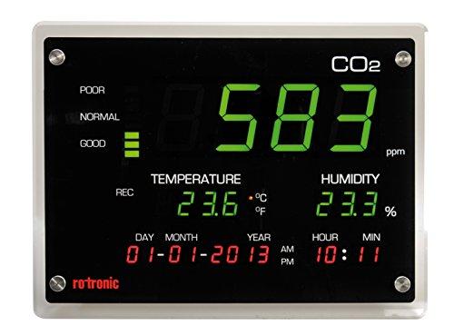 ROTRONIC CO2-Display Feuchte und Temperatur Messinstrumente, schwarz