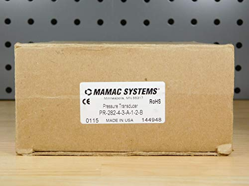 For Sale! Mamac Systems, Inc. PR28243A12B Wet Differential Pressure 4-20MA, 0-50PSID, 24VDC